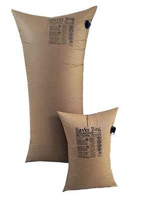 Two Brown Colour Inflated Kraft Paper Dunnage Bag