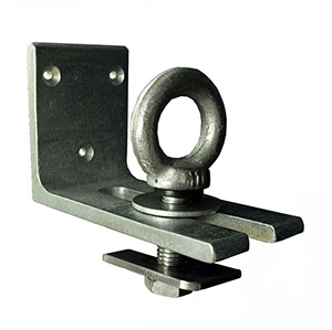 A L-shaped steel reefer lock