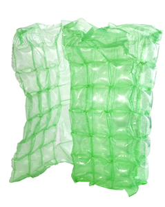 Green Colour Inflated Bubble Wrap Inflatable Cushioning