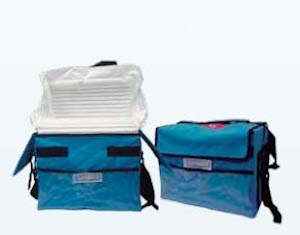 White colour Insulated Box Liner with blue colour bag