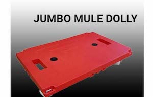 A Red Jumbo-Mule Dolly