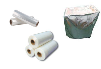 Reinforced Aluminium Foil, Two Rolls Of Shrink Wrap, Three Rolls Of Stretch Film Stacked