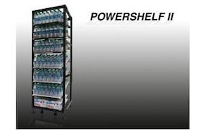 Power Shelf II Filled with Bottled Drinks