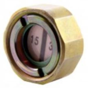 A Brass Humidity Indicator Plug With A Colour-Changing Indicator Paper