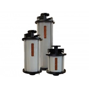 Three V, W, X, Y & Z Transformer Breathers Of Different Sizes Filled With Silica Gel Desiccant