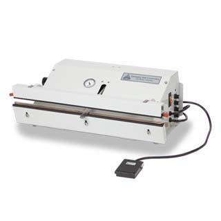 Stainless Steel Table Top Vacuum Sealer with a SureSeal digital interface & a footswitch